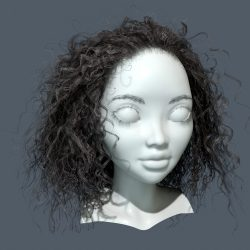 Realtime Curly Hair in Marmoset Toolbag 3